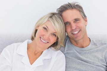 couple smiling together | dentist broomfield co