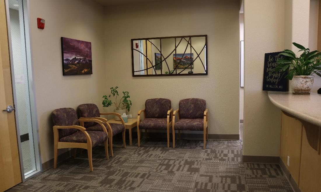 Waiting Area at Peak Dental Health in Broomfield CO