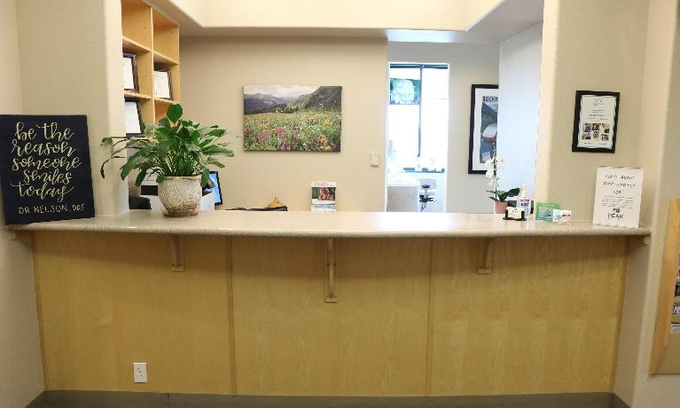 Reception Area at Peak Dental Health in Broomfield CO